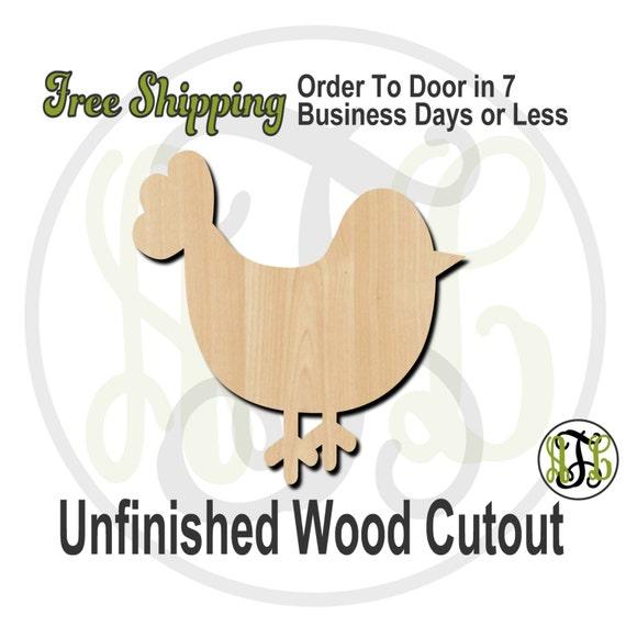 Bird 1 - 230001- Bird Cutout, unfinished, wood cutout, wood craft, laser cut shape, wood cut out, Door Hanger, wooden, blank