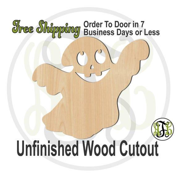 Ghost7 - 160039- Halloween Cutout, unfinished, wood cutout, wood craft, laser cut out, wood cut out, Door Hanger, spirit, phantom, wooden