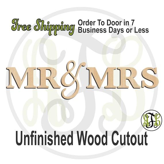 Large MR & MRS - 325057SuperG toLG - Cutout, unfinished, wood cutout, wood craft, laser cut, wood cut out, Door Hanger, Master Room