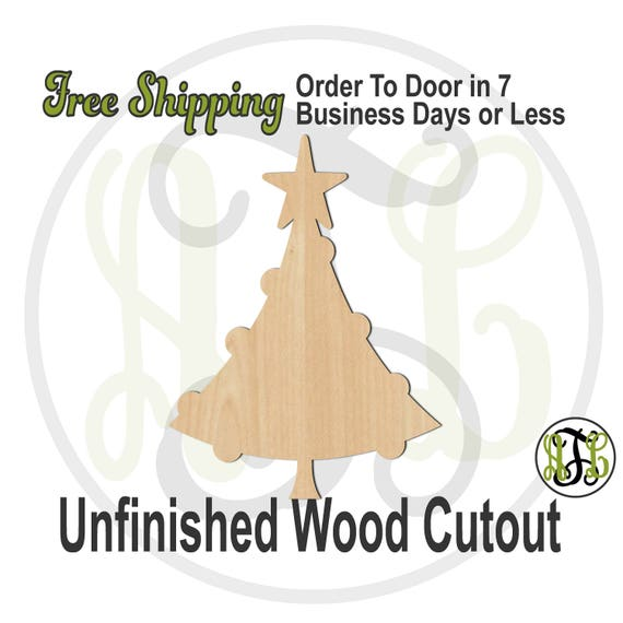 "Round Ornament Tree- 2"" to 6"" Minis- 180087- Small Wood Cutout, unfinished, wood cutout, wood craft, laser cut, wood cut out, ornament"