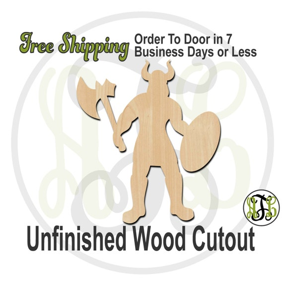 Viking Mascot- 60621- School Spirit Cutout, unfinished, wood cutout, wood craft, laser cut shape, wood cut out, Door Hanger, wooden
