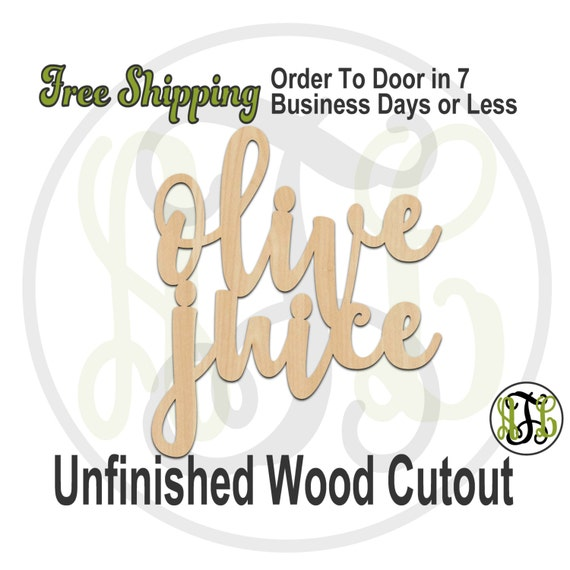 olive juice- 323002- 'i love you' Cutout, unfinished, wood cutout, wood craft, laser cut wood, wood cut out, Door Hanger, wooden sign