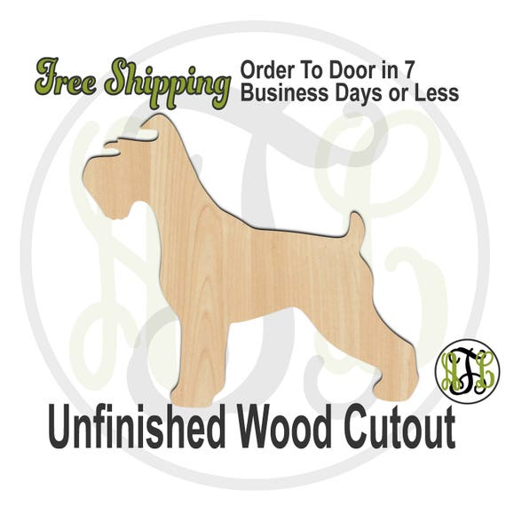 Schnauzer - 230089- Animal Cutout, unfinished, wood cutout, wood craft, laser cut shape, wood cut out, Door Hanger, Dog, wooden, blank