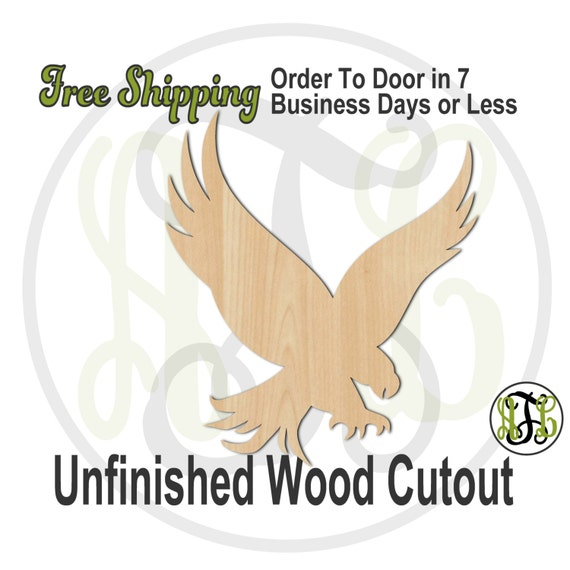 Eagle- 230049- Bird Cutout, unfinished, wood cutout, wood craft, laser cut shape, wood cut out, Door Hanger, wooden, blank