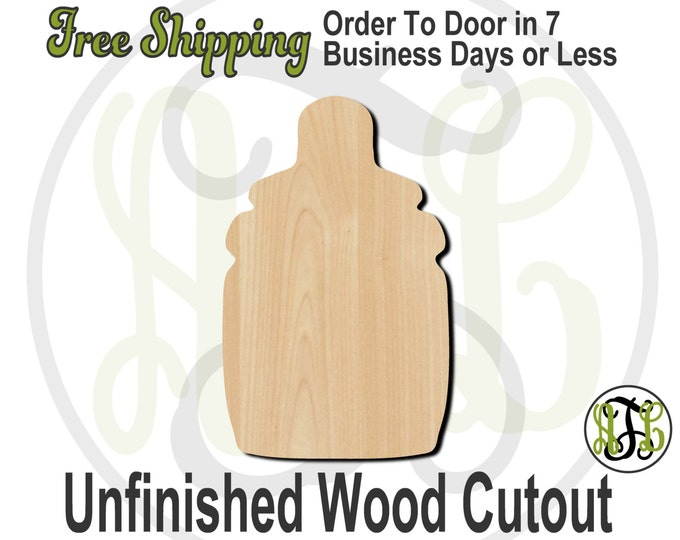 Bottle - No. 30008- Cutout, unfinished, wood cutout, wood craft, laser cut shape, wood cut out, Door Hanger, wooden, wreath accent