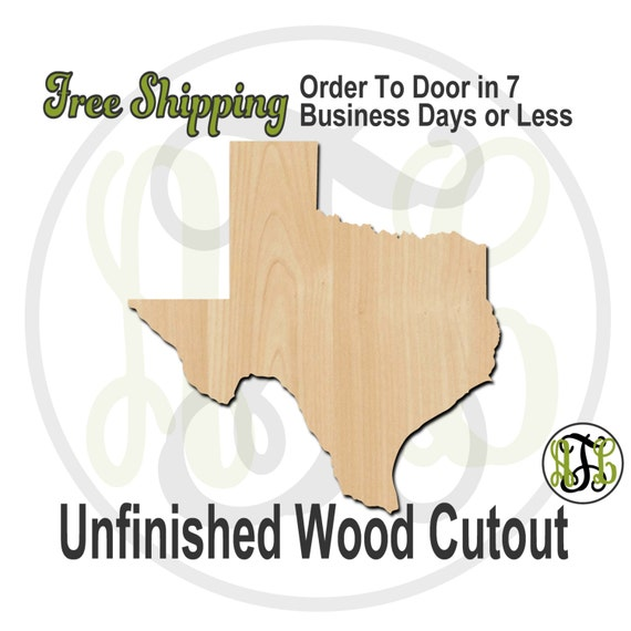 Texas State- 270039- State Cutout, unfinished, wood cutout, wood craft, laser cut shape, wood cut out, Door Hanger, United States, wooden