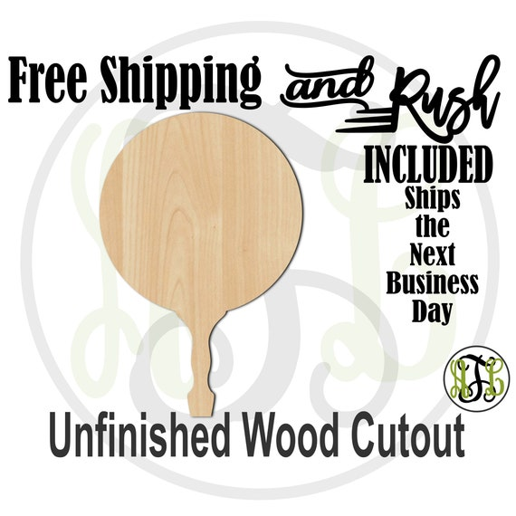 Circle Paddle Sign- 3400008- Cutout, unfinished, wood cutout,  laser cut, DIY, Free Ship, Wedding, bleacher - RUSH PRODUCTION