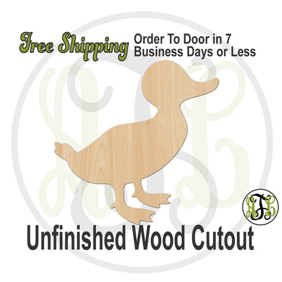 Duckling - 230118- Animal Cutout, unfinished, wood cutout, wood craft, laser cut shape, wood cut out, Door Hanger, Dog, wooden, blank, bird