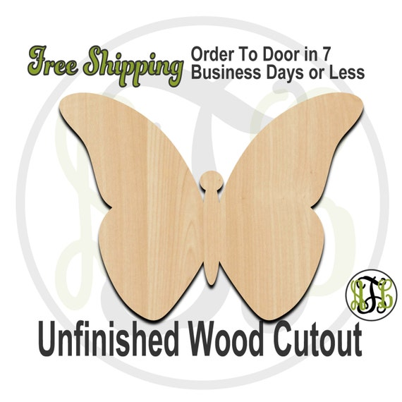 Butterfly 4 - 235010- Insect Cutout, unfinished, wood cutout, wood craft, laser cut shape, wood cut out, Door Hanger, wooden, blank