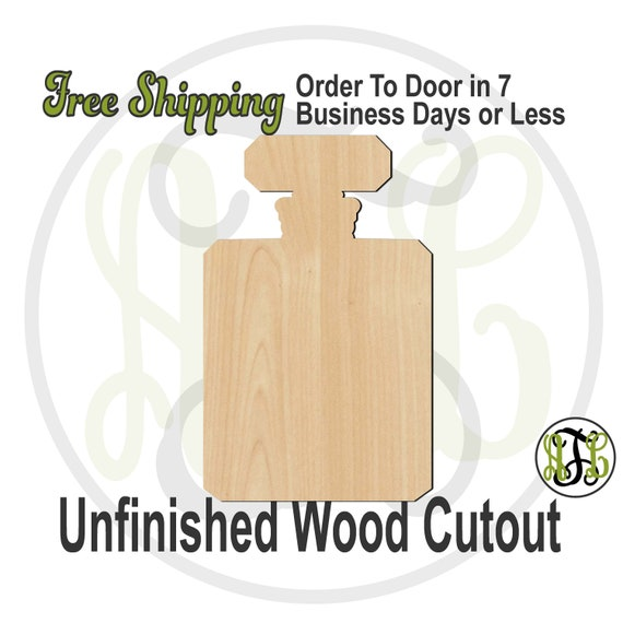Perfume Bottle- 300217 - Fragrance Cutout, unfinished, wood cutout, wood craft, laser cut shape, wood cut out, wooden, wall art