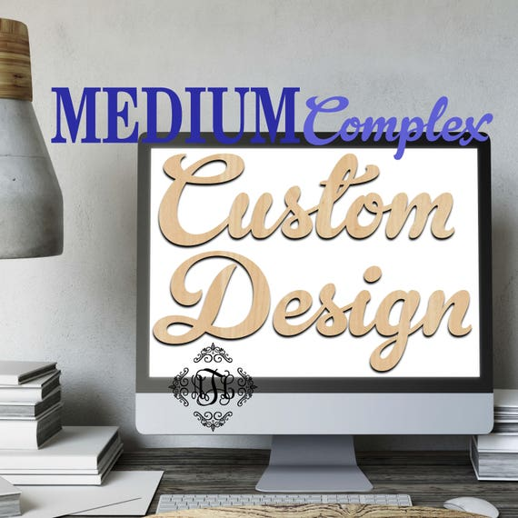 Custom Design Wood Art MEDIUM Complex, 4 Features, Wedding, Nursery, College, Personalized, Sign, Birthday, laser cut shape, wood cut out