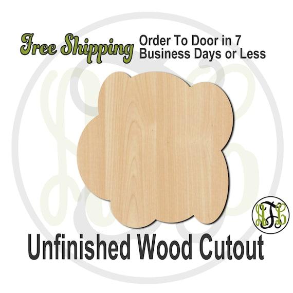 Plaque Cloud - 40014- Cutout, unfinished, wood cutout, wood craft, laser cut shape, wood cut out, DIY, Free Shipping