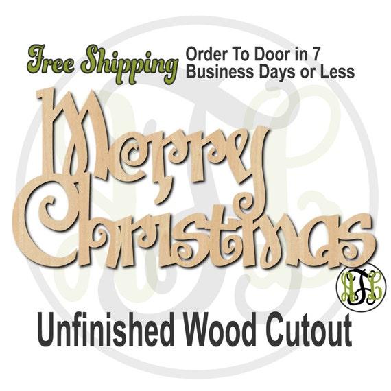 Merry Christmas 3 - 180108- Cutout, unfinished, wood cutout, wood craft, laser cut shape, wood cut out, Door Hanger, wooden, wall art