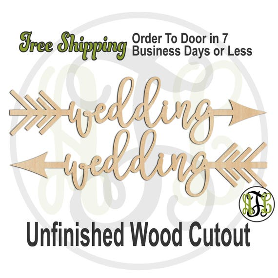 Wedding Directional Arrows - 325026-27, Wedding Cutout, unfinished, wood cutout, wood craft, laser cut, wood cut out, direction, tribal