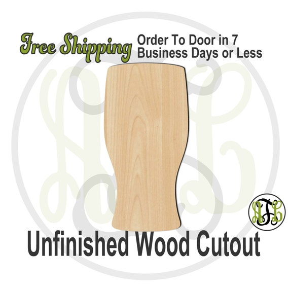Pint Glass - 300140- Fun Cutout, unfinished, wood cutout, wood craft, laser cut shape, wood cut out, Door Hanger, wooden, ready to paint