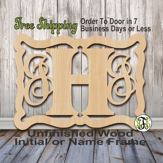 Unfinished Wood Jennifer Frame Monogram, Name, Word, Custom, laser cut wood, wooden cut out, Wedding, Personalized, DIY
