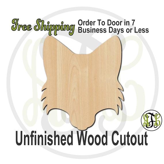 Fox Head Mascot- 60513- School Spirit Cutout, unfinished, wood cutout, wood craft, laser cut shape, wood cut out, Door Hanger, wooden