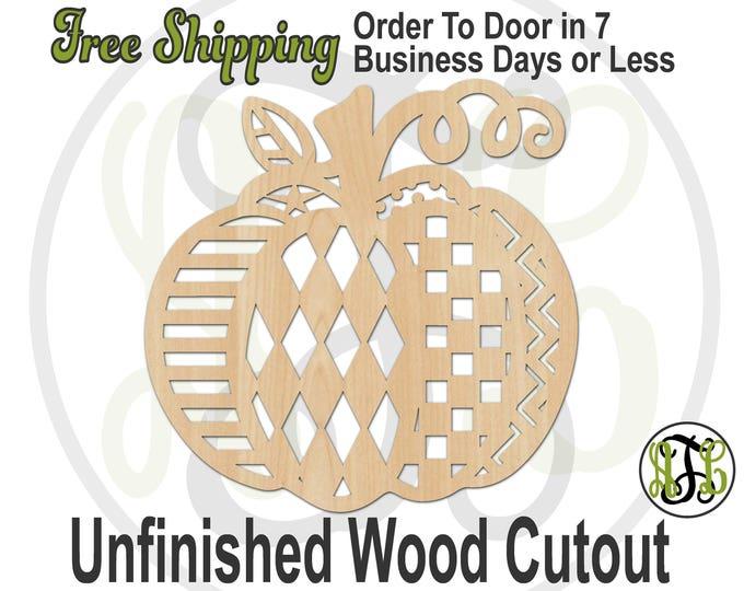 Pumpkin Pattern- 170029- Thanksgiving Cutout, unfinished, wood cutout, laser cut shape, wood cut out, Door Hanger, Holiday, wooden, wall art