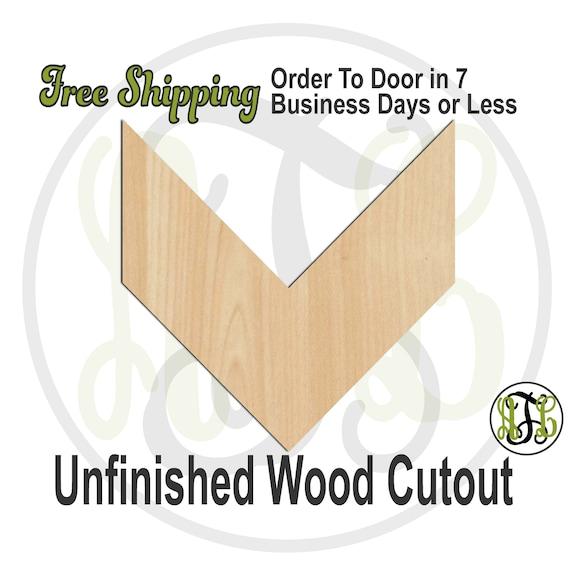 Chevron - 40058- Geometric Shape Cutout, unfinished, wood cutout, wood craft, laser cut shape, wood cut out, DIY, Free Shipping