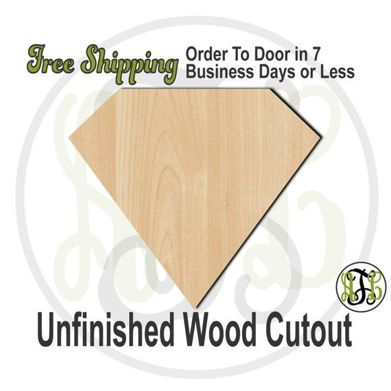 Plaque Diamond- 40037- Cutout, unfinished, wood cutout, wood craft, laser cut shape, wood cut out, DIY, Free Shipping, Engagement, Wedding