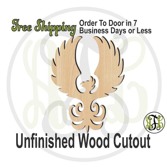 Phoenix Mascot - 60598- School Spirit Cutout, unfinished, wood cutout, wood craft, laser cut shape, wood cut out, Door Hanger, wooden