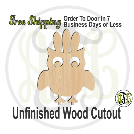 Owl Indian - 170012-  Thanksgiving Cutout, unfinished, wood cutout, wood craft, laser cut shape, wood cut out, Door Hanger, wooden, wall art