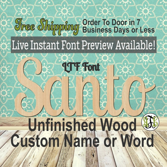 Custom Wood Name Sign, LTF Font, Cursive, Connected, wood cut out, wood cutout, wooden sign, Nursery, Wedding, Birthday, word sign