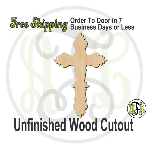 Crucifix - 290028- Religious Cutout, unfinished, wood cutout, wood craft, laser cut shape, wood cut out, Door Hanger, Cross, wooden