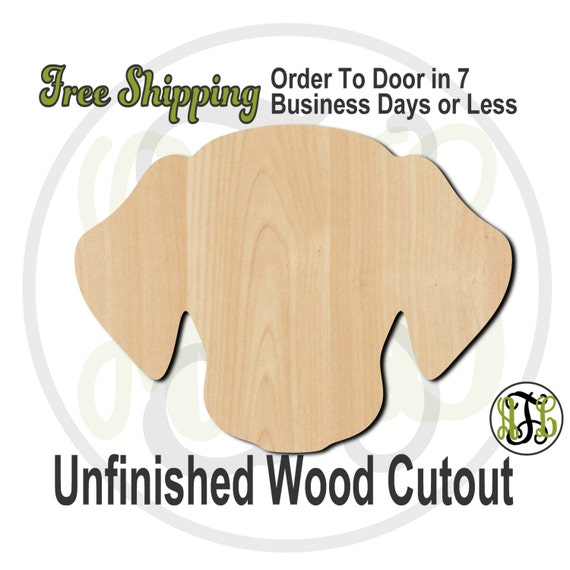 Dog Head Mascot - 60509- School Spirit Cutout, unfinished, wood cutout, wood craft, laser cut shape, wood cut out, Door Hanger, wooden