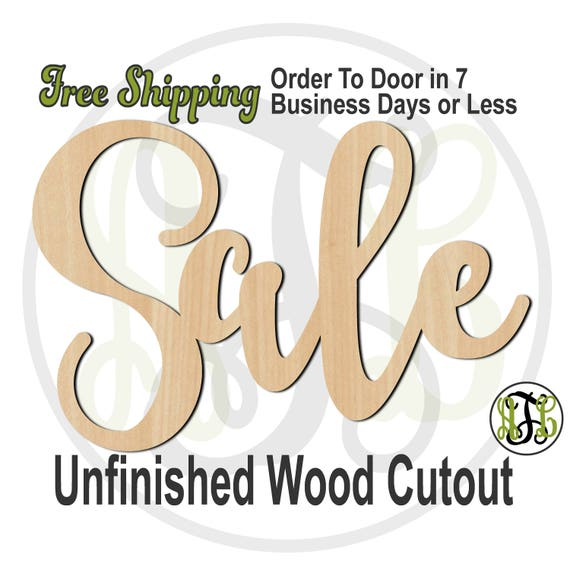 Sale - 320343FrFt- Word Cutout, unfinished, wood cutout, wood craft, laser cut wood, wood cut out, Door Hanger, wooden sign, window sign