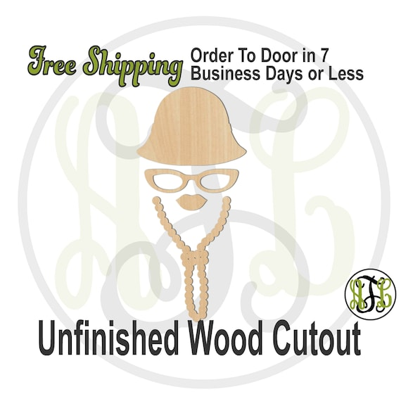 Disguise 10 - 240712- Fun Cutout, unfinished, wood cutout, wood craft, laser cut, wood cut out, Free Ship, Hat, Glasses, Lips, Necklace