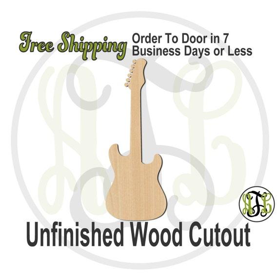 Electric Guitar - 300110- Instrument Cutout, unfinished, wood cutout, wood craft, laser cut shape, wood cut out, Door Hanger, wooden