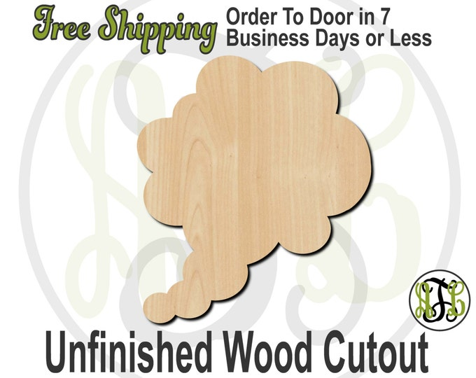 Plaque Thought Bubble 5- 40027- Cutout, unfinished, wood cutout, wood craft, laser cut shape, wood cut out, DIY, Free Shipping