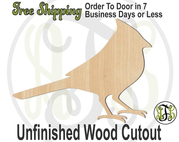 Cardinal - 230110- Bird Cutout, unfinished, wood cutout, wood craft, laser cut shape, wood cut out, Door Hanger, wooden, blank