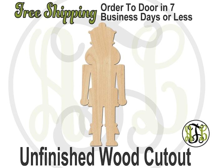 Nutcracker - 180052- Christmas Cutout, unfinished, wood cutout, wood craft, laser cut shape, wood cut out, Door Hanger, wooden, wall art