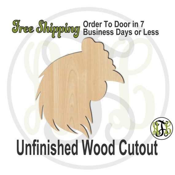 Chicken Head Mascot- 60506- School Spirit Cutout, unfinished, wood cutout, wood craft, laser cut shape, wood cut out, Door Hanger, wooden