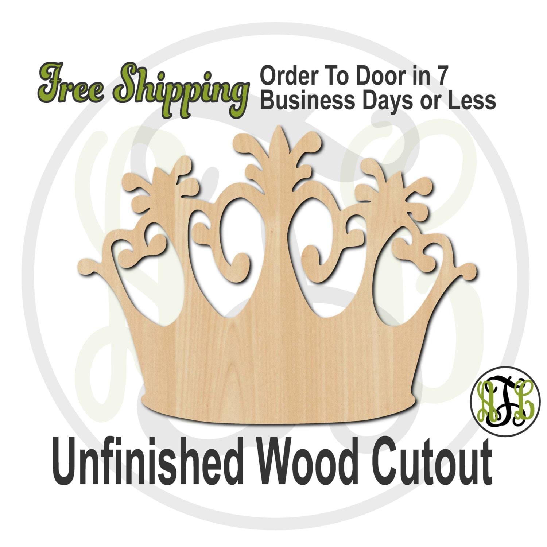 Wooden MDF Crown Shape Frame Laser Cut Craft