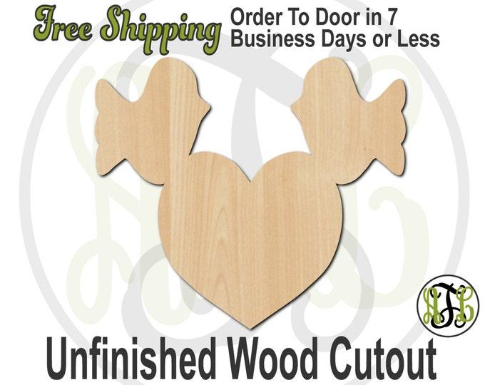 Love Birds - 110007- Valentine Cutout, unfinished, wood cutout, wood craft, laser cut shape, wood cut out, Door Hanger, wooden, wall art
