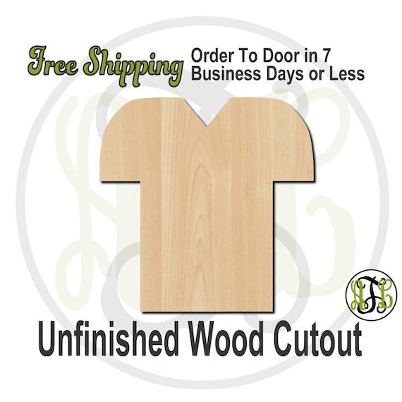 Football Jersey - 60005- School Spirit Cutout, unfinished, wood cutout, wood craft, laser cut shape, wood cut out, Door Hanger, wooden