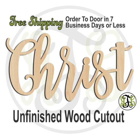 Christ - 320258FrFt- Religious Cutout, unfinished, wood cutout, wood craft, laser cut wood, wood cut out, Door Hanger, wooden, wreath accent