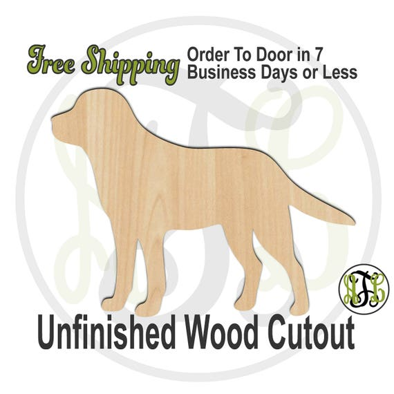 Labrador - 230083- Animal Cutout, unfinished, wood cutout, wood craft, laser cut shape, wood cut out, Door Hanger, Dog, wooden, blank