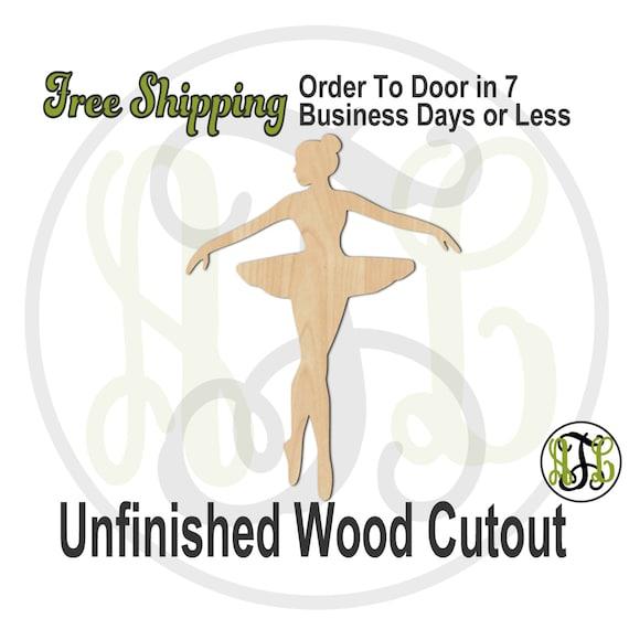 Ballerina 3 - 60028- Cutout, unfinished, wood cutout, wood craft, laser cut shape, wood cut out, Door Hanger, wooden, wall art