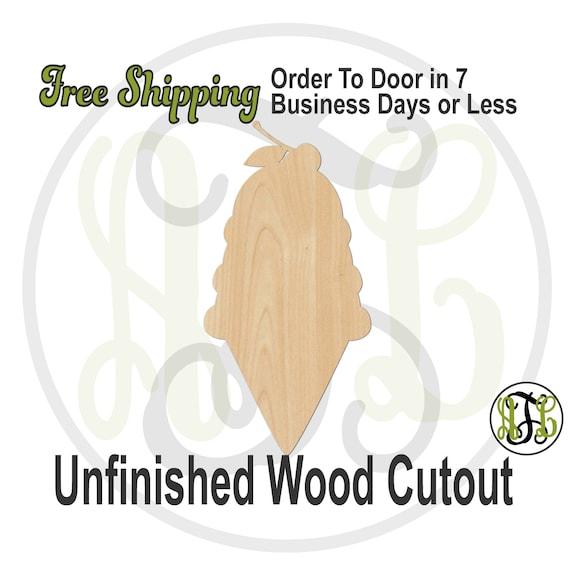 3 Scoop Ice Cream Cone - 210023- Summer Cutout, unfinished, wood cutout, wood craft, laser cut shape, wood cut out, Door Hanger, wooden