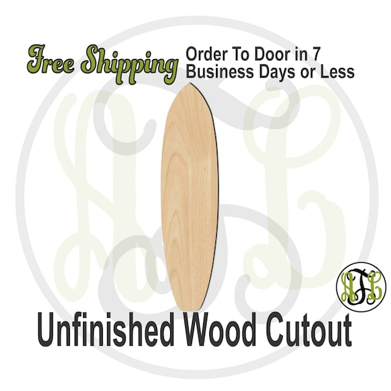 Surf / Paddle Board- 60044- Sports Cutout, unfinished, wood cutout, wood craft, laser cut shape, wood cut out, Door Hanger, Surfing, wooden