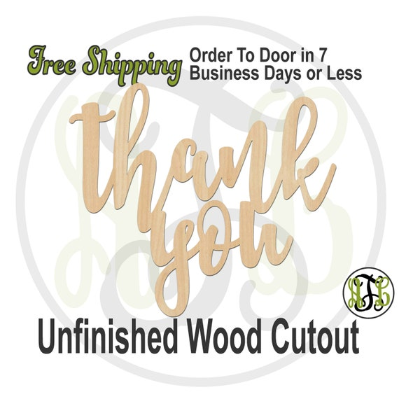 thank you- 325168- Sign Cutout, unfinished, wood cutout, wood craft, laser cut wood, wood cut out, wood cut out, wooden sign