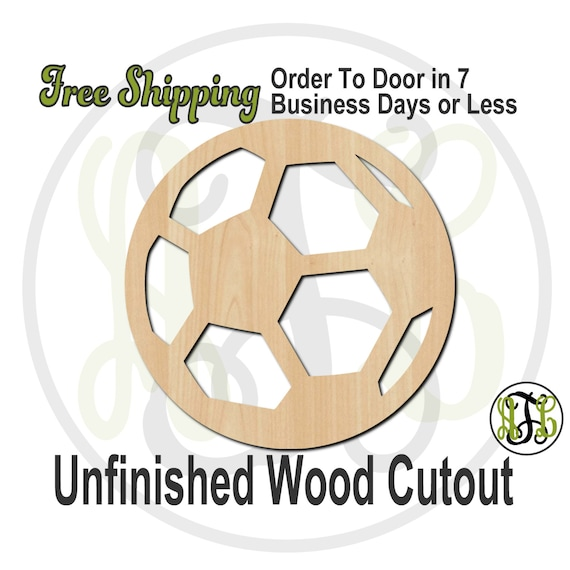 Soccer Ball- 60024- School Spirit Cutout, unfinished, wood cutout, wood craft, laser cut shape, wood cut out, Door Hanger, wooden, wall art