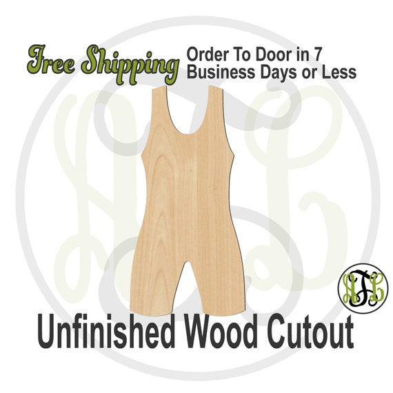 Wrestling Singlet - 60230- Sports Cutout, unfinished, wood cutout, wood craft, laser cut, wood cut out, Door Hanger,Wrestler, wooden