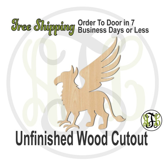 Griffin Mascot - 60557- School Spirit Cutout, unfinished, wood cutout, wood craft, laser cut shape, wood cut out, Door Hanger, wooden