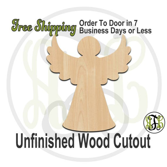 "Christmas Tree Angel- 2"" to 6"" Minis- 180035- Small Wood Cutout, unfinished, wood cutout, wood craft, laser cut, wood cut"
