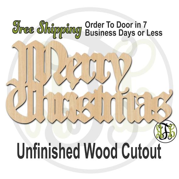 Merry Christmas 1 - 180106- Cutout, unfinished, wood cutout, wood craft, laser cut shape, wood cut out, Door Hanger, wooden, wall art